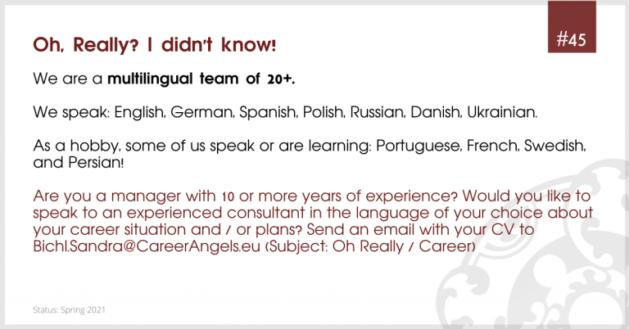 Multilingual team of 20+